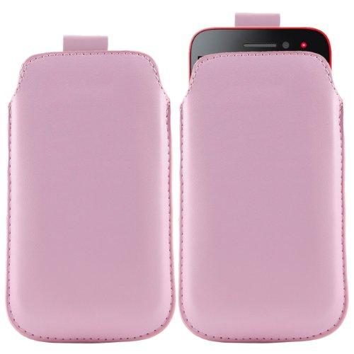 iTALKonline Nokia Lumia 610 Baby Rosa Prämie PU Leder Vertical Exekutiv Side Pouch Tasche Holster mit Pull Tab