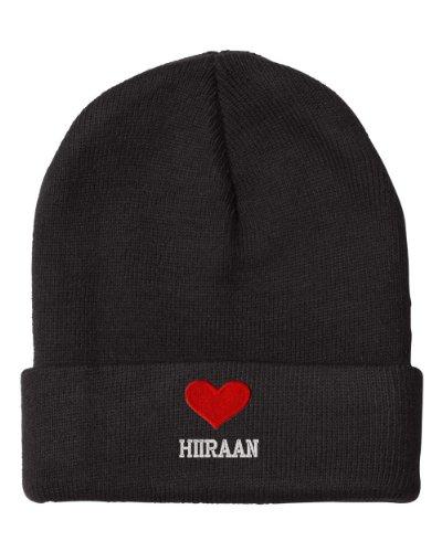 I Love Heart Hiiraan Somalia City Embroidered Beanie Cap