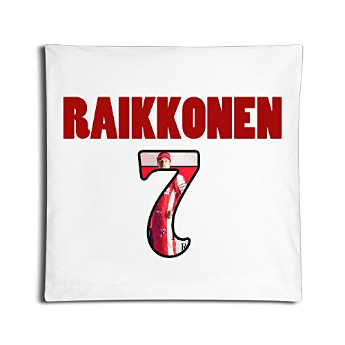 MZONE Particular Famous Racing Driver No.7 Kimi Raikkonen Iceman Throw Pillow Shells One Side 45*45 CMS Square