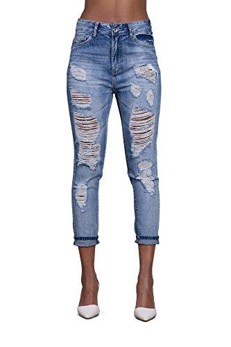 Lantis -  Jeans  - boyfriend - Donna blu 38, 40, 42, 44,46