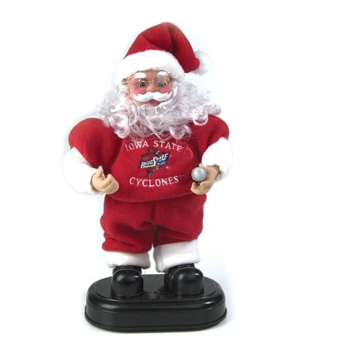 Iowa State Cyclones Animated Rock and Roll Santa