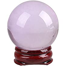 Alcoa Prime 40mm Quartz Lucky Purple Healing Crystal Ball Sphere Bottom Stand Home