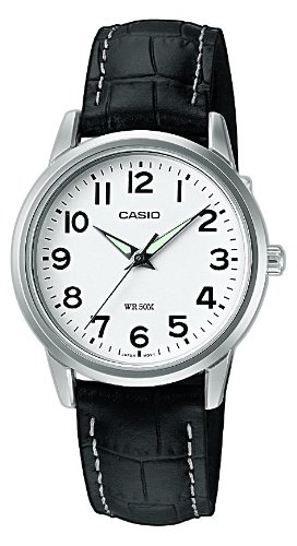CASIO Collection LTP-1303L-7BVEF - Reloj de cuarzo para mujer, correa de piel color negro