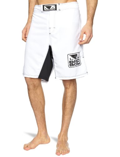 Bad Boy Men's MMA Short - White, Medium