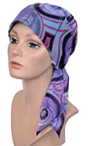 Chemo Fashion Head Scarf Spring Purple Silken Chiffon