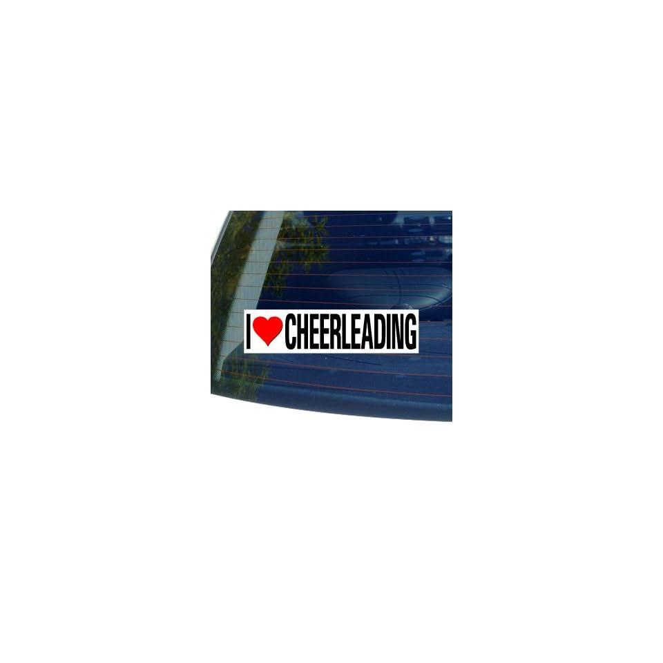 I Love Heart CHEERLEADING   Window Bumper Sticker