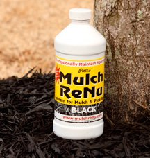 Mulch Dye: Jet Black: 1 gallon-Bring color back into your yard with Mulch Renu(Covers 4,000 square feet)