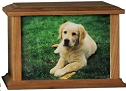 UrnConcern Solid Wood Cremation Urn -The Taylor - Cherry Finish - 4 sizes