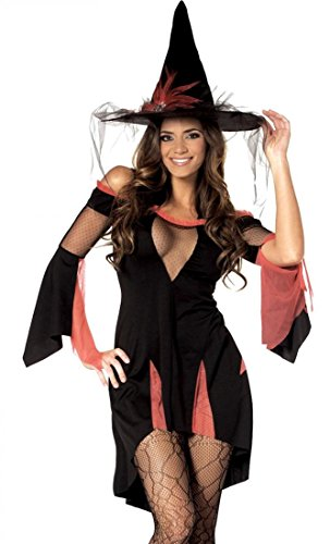 Sexy Mesh Witch Halloween Costume Party Outfit Cosplay Drape High Low Dress
