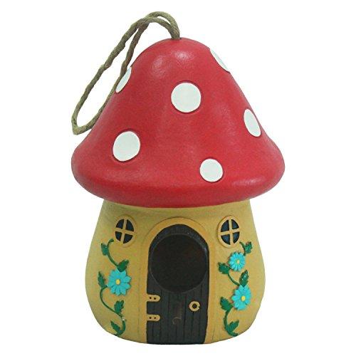 wildbird-care-pet-supplies-resin-mushroom-bird-house-brh04-apricot-red-