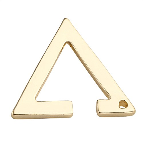 JOVIVI® Women Stainless Steel Non- Pierced Hollow Triangle Clip On Earrings Fake Ear Cartilage Cuff Ear Ring, 1Pair (Golden)