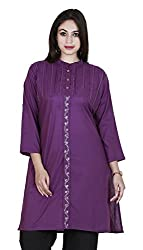 Eessence Women's Cotton Kurta (MCCK012_VL_L, Purple, L)