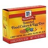 McCormick Food Colors & Egg Dye, Four Assorted, 0.25-Ounce Vials