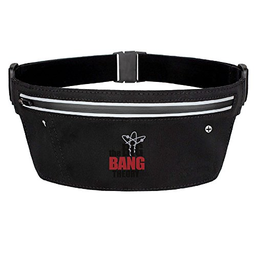 Men's & Women's The Big Bang Theory.png Polyester Lycra Gym Walking Running Belt Waist Packs Black (Ga Bulldogs Belt compare prices)