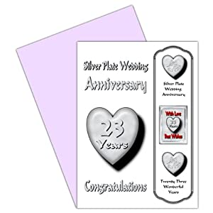 Wedding Gift 23 Years : 23rd Wedding Anniversary Card With Removable Magnet Gift - 23 Years ...