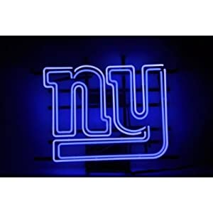 """NFL New York Giants Ny Football Beer Bar Pub Handcrafted Real Glass Tube Neon Light Sign 32"""" X 24"""" the Best Offer!"""