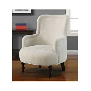 Amazon.com - White Armchairs Bedroom Chair Living Room Den Accent ...