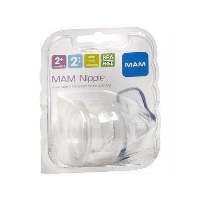 MAM Medium Flow Nipple, 2+ Months - 6 Pack