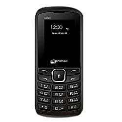 Micromax X090 Black Mobile 1.77 inch Display phone keypad Cellphone Dual SIM Cell (Black)