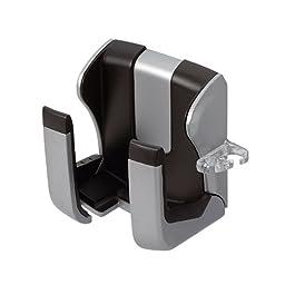 CARMATE HS141A Cell Phone/iPod Mini Holder Black/Silver