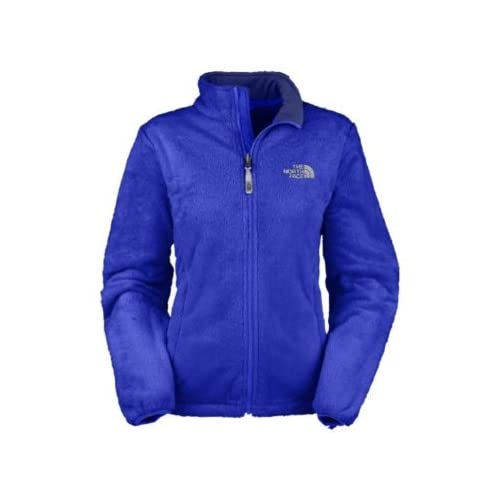 Fuzzy north face jacket blue