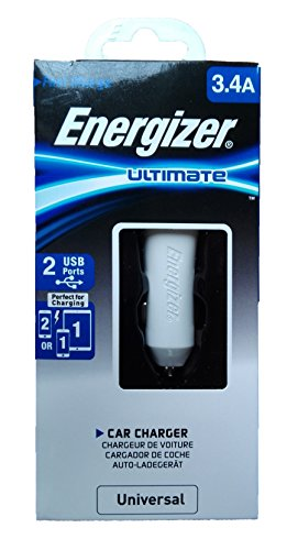 Energizer 3.4A Dual USB Car Charger