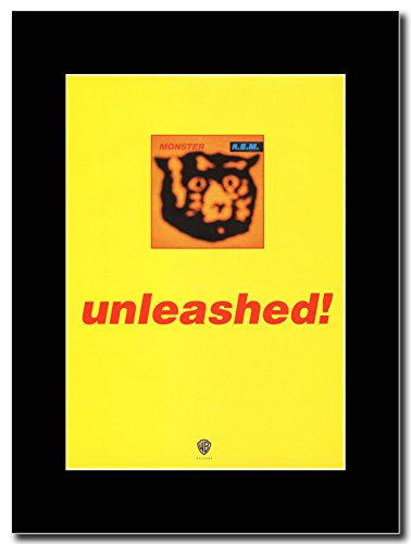 R.E. M.-_Monster ...Unleashed! Magazine Promo su un supporto, colore: nero