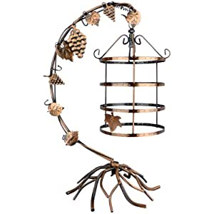 MyGift 4 Tier Bird Cage Décor Rotating Table Top Earrings Organizer / Necklace Jewelry Display Stand