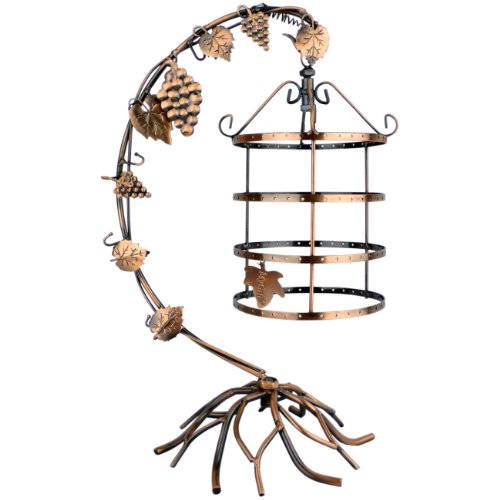 4 Tiers Bird Cage Décor Rotating Spin Table Top 72 pair Earrings Holder Organizer / Bracelets Necklace Jewelry Stand Display Tower by MyGift