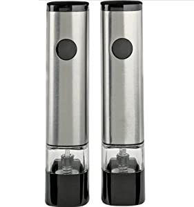 Cole & Mason Zelios Electronic Stainless Steel Pepper and Salt Mill Gift Set