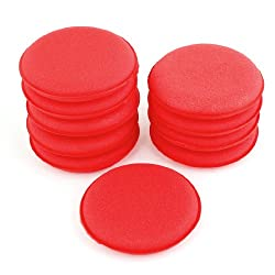Vehicle 10cm Dia Sponge Polishing Pad Wheel Red Cleaning Tool 10 Pcs
