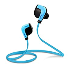 buy Skygenius Xt-001 Nfc Aptx Bluetooth Noise Cancellation Stereo Sport Headset With Earbuds For Smartphones - Blue