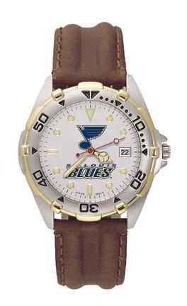 LogoArt St. Louis Blues Men's All-Star Leather