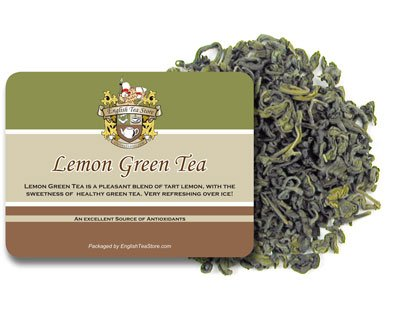 Lemon Green Tea - Loose Leaf - 16Oz