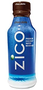 ZICO Pure Premium Coconut Water, Chocolate, 14 Ounce Bottles (Pack of 12)