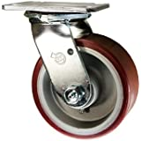 "5"" x 2"" Swivel Caster - Poly Tread on Aluminum Core - 1,000 Lbs Cap"