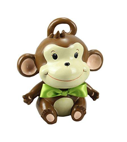 Young's My Monkey Resin Coin Bank, 6.75-Inch - 1