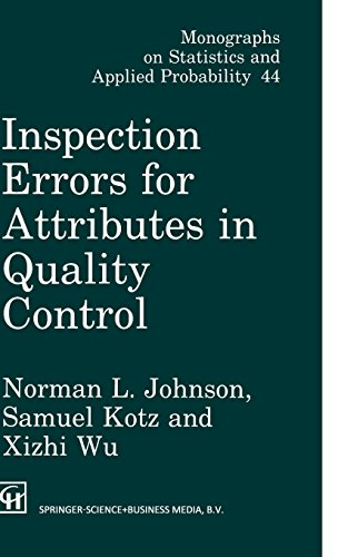 Inspection Errors for Attributes in Quality Control (Chapman & Hall/CRC Monographs on Statistics & Applied Proba