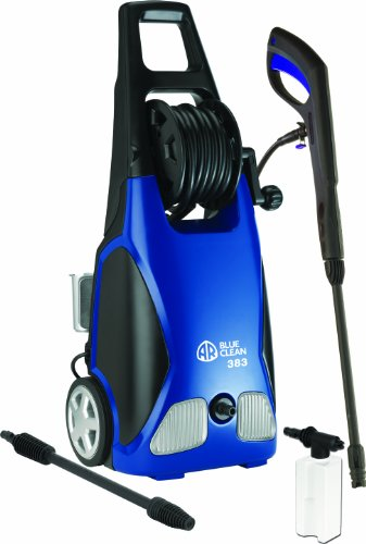 AR Blue Clean 1900 PSI Electric Pressure Washer with Spray Gun, 2 Different Nozzle Wands and 20 Foot Hose (Simoniz Pressure Washer compare prices)