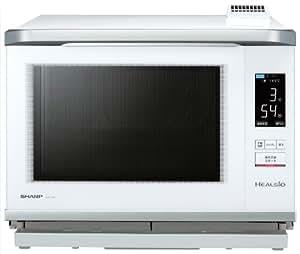SHARP HEALSIO ウォーターオーブンレンジ 30L 2段調理 372メニュー 蒸気ダクト付き 「4.3型カラー液晶」 省エネ基準達成 ホワイト系 AX-PX1-W
