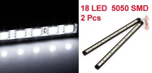 2 x 18 blanc 5050 SMD LED DRL Feux de jour Lampe pour voiture