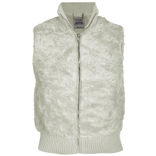 Miss Posh Kids Girls Sleeveless Bodywarmer Gilet Jacket – Cream – 9/10 Years