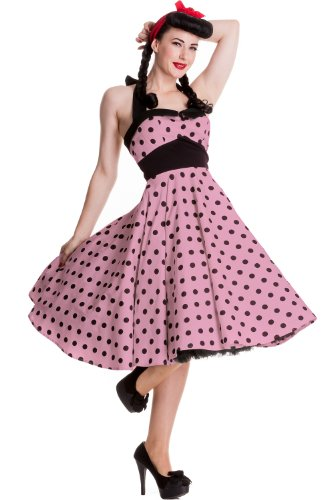 Hell Bunny Pink Adelaide 50's Dress M - UK 12 / EU 40
