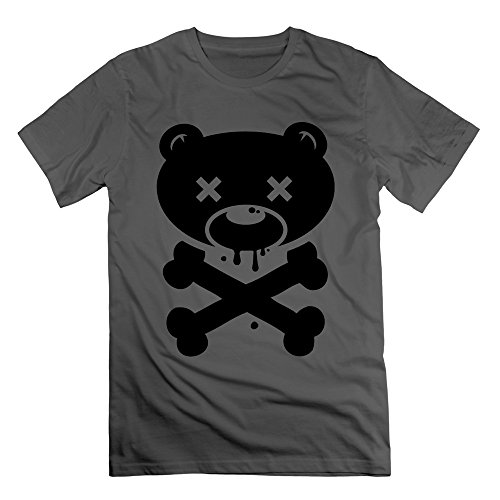 Men's Bear Skull Short-Sleeve T-shirt DeepHeather XL