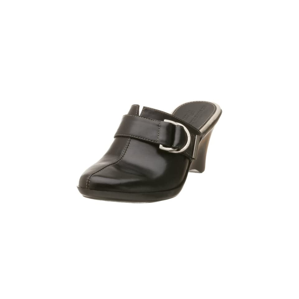 AK Anne Klein Womens Santo,Black Leather,8.5 M