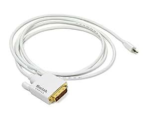 MacLab. Mini Displayport (Thunderbolt) - DVI-D (24+1/18+1ピン互換) 変換ケーブル 1.8m ホワイト 【相性保証付き】