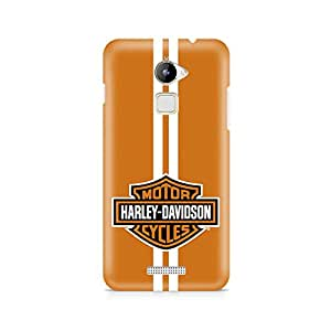 Motivatebox- Harley Davidson Coolpad Note 3 Lite cover -Matte Polycarbonate 3D Hard case Mobile Cell Phone Protective BACK CASE COVER. Hard Shockproof Scratch-