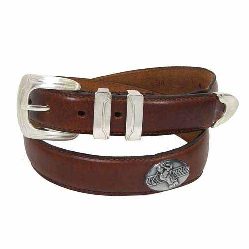 Golfer Dress Belt - Horween Oil - Mens Concho Brown Golf Belt