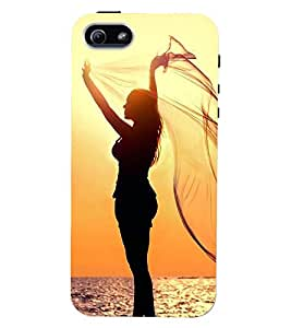 Printvisa Premium Back Cover Vector Gerlpic On A Beach Design For Apple iPhone 5::Apple iPhone 5S