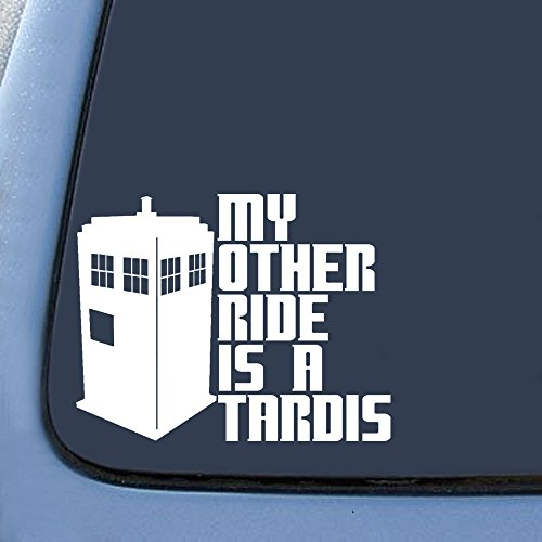 My Other Ride is a Tardis Sticker Decal Notebook Car Laptop 5